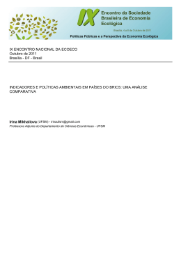 indicadores e políticas ambientais em países do brics