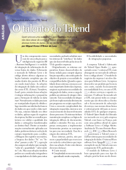 O talento do Talend