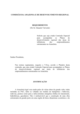 COMISSÃO DA AMAZONIA E DE DESENVOLVIMENTO REGIONAL