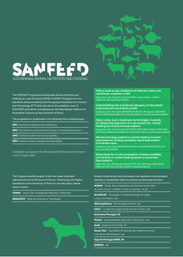 folheto 2015 - SANFEED - Sustainable Animal Nutrition and Feeding