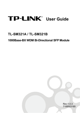 TL-SM321A_B User Guide - TP-Link