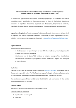 Advertisement for two Doctoral Scholarships from the Caixa Geral