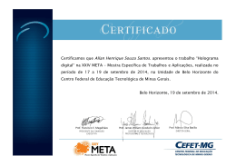 Certificamos que Allan Henrique Souza Santos - DEPT - Cefet-MG