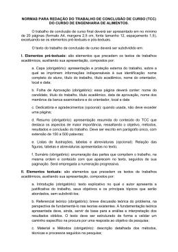Normas para Redação de TCC