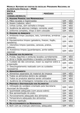 Checklist - Visitas às Escolas