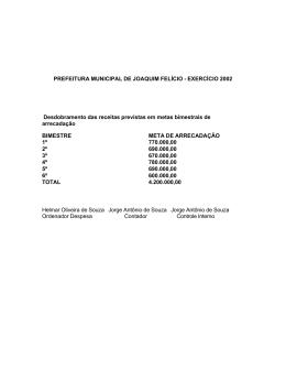 PREFEITURA MUNICIPAL DE JOAQUIM FELÍCIO