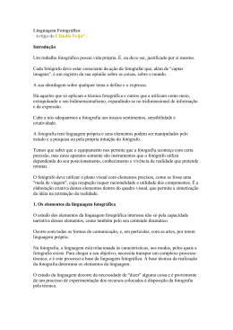 Linguagem Fotográfica | Artigo de Cláudio Feijó* | Introdução