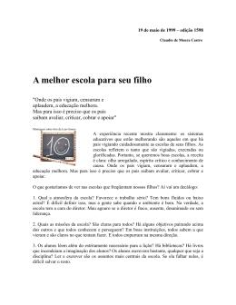 19 de maio de 1999 – edição 1598