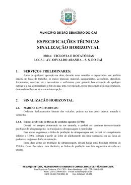 2. sinalização horizontal - Prefeitura de São Sebastião do Caí
