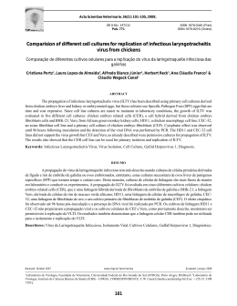 Comparision of different cell cultures for replication of