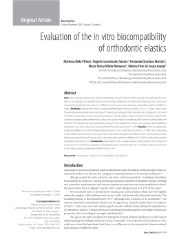 Evaluation of the in vitro biocompatibility of orthodontic elastics