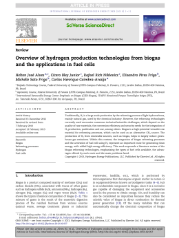 Overview of hydrogen production technologies from biogas and the