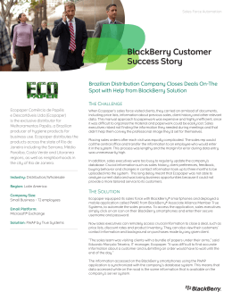 BlackBerry Customer Success Story