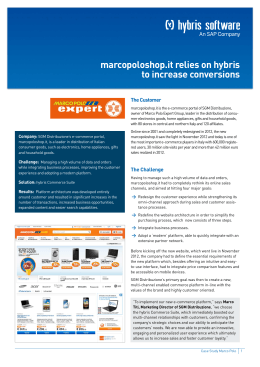 marcopoloshop.it relies on hybris to increase conversions