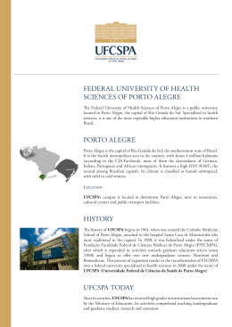 FEDERAL UNIVERSITY OF HEALTH SCIENCES OF