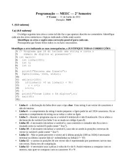 Programação — MEEC — 2º Semestre