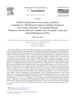 Global warming and socioeconomic conditions.Comment