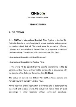 THE FESTIVAL 1.1 - CINEfoot - International Football Film Festival is