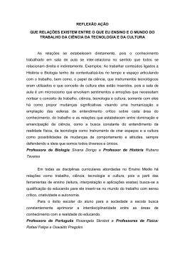 Reflexão açao Caderno III topico 1