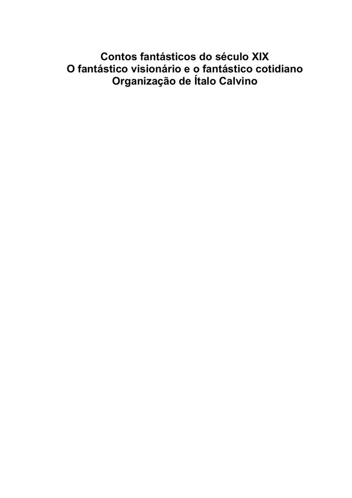 Italo Calvino - Contos Fantásticos do Século XIX 41dba780ca