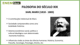 FILOSOFIA DO SÉCULO XIX KARL MARX (1818