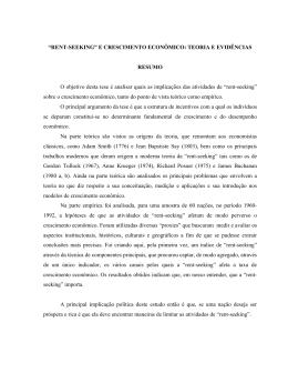 """RENT-SEEKING"" E CRESCIMENTO ECONÔMICO"