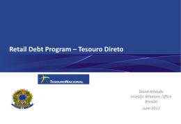 Retail Debt Program – Tesouro Direto