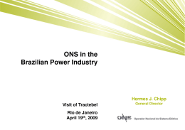 ONS in the Brazilian Power Industry