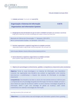 Organização e Sistemas de Informação Organization and