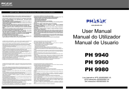 User Manual Manual do Utilizador Manual de Usuario PH