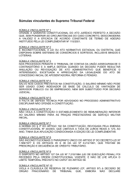 iv- súmulas vinculantes do supremo tribunal federal