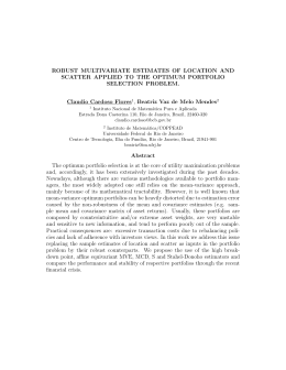 ROBUST MULTIVARIATE ESTIMATES OF LOCATION AND