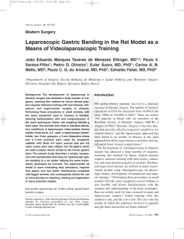 Laparoscopic Gastric Banding in the Rat Model