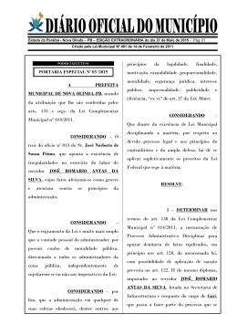 Diario Oficial do Municipio 27 de Maio de 2015