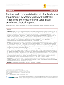 Capture and commercialization of blue land crabs