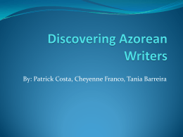 Discovering Azorean Writers