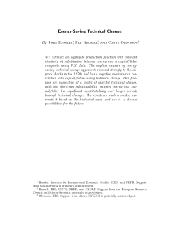 Energy-Saving Technical Change