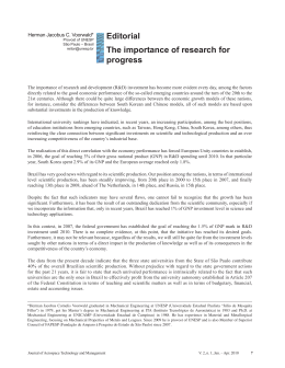 Editorial The importance of research for progress