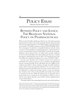 Between Policy and Justice: The Brazilian National Policy on