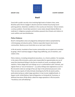 World Report Chapter: Brazil