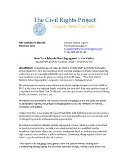 Full Press Release - The Civil Rights Project at UCLA