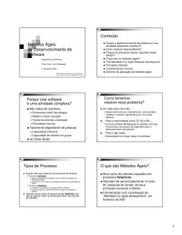 Métodos Ágeis de Desenvolvimento de Software