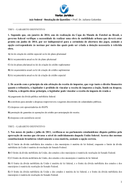Juiz Federal - Resolução de Questões – Prof. Dr. Juliano Colombo 1