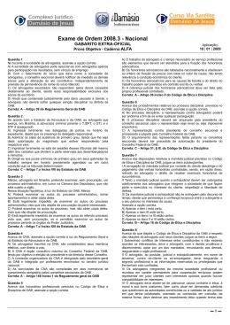 Abertura Gabarito extraoficial do Exame 2008.3