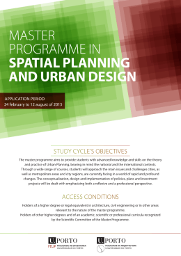 master programme in spatial planning and urban design
