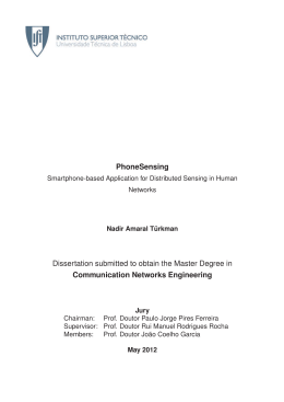 PhoneSensing Dissertation submitted to obtain the Master Degree