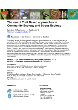 The use of Trait Based approaches in Community Ecology