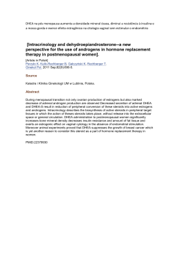 [Intracrinology and dehydroepiandrosterone-