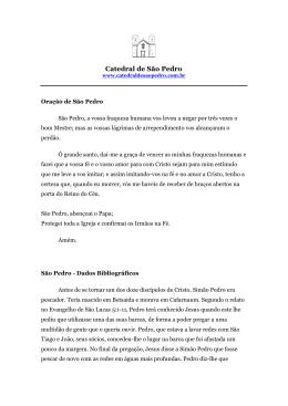 Baixe a Oração e a biografia de São Pedro.