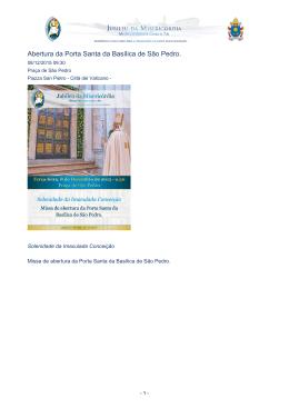 Abertura da Porta Santa da Basílica de São Pedro.
